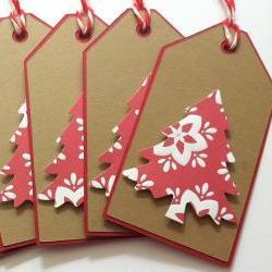 Christmas Gift Tags - Kraft Christmas Tree Gift Tags - Set of 6
